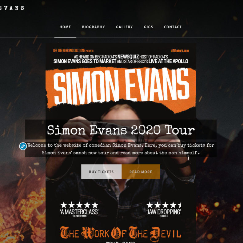 Simon Evans, comedian etc